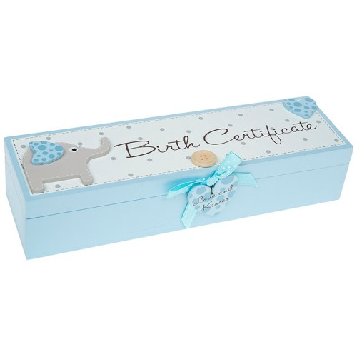 WOODEN BOY BIRTH CERTIFICATE HOLDER - Hares & Graces