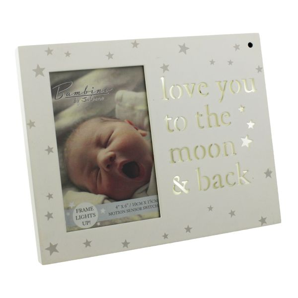 Light Up Love You To The Moon Back Photo Frame Hares Graces